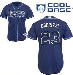 Men's Tampa Bay Rays #23 Jake Odorizzi Navy Blue Stitched Baseball Jersey