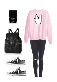 butter, clothes, convers, emo, fashion, goth, gothic, grunge fashion, header, ild, indie, nail, outfit, pale, pastel, pink, polyvore, rock, shoes, style, swag, vintage, jesseas, backbacks