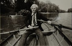 """Jon and I went to the Boathouse and we rented a rowboat. I thought I was Shelley Winters in ""A Place in the Sun."" I can't swim."" 9/18/83-diary entry #warhol"