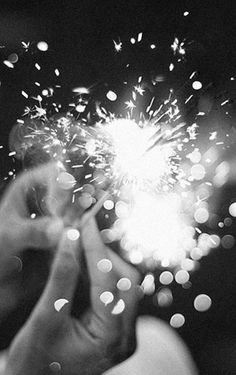 sparklers | sparkle | shine | celebrate | candles | surprise | fun | light | glitter | night | party | laughter | decorations | black & white |