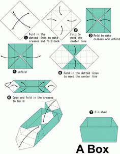 Image result for simple origami box