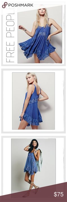 ✨Free People Trapeze Tunic/Dress✨ ✨Free People 'She Swings' Trapeze Tunic/Dress✨Beautiful, Loose Fitting, Easy-Going 'She Swings' Trapeze Dress✨Can Be Worn As A Dress Or Layered With Other Pieces For A Year Round Look✨Gorgeous Scalloped Lace Detailing And Stunning Cornflower Blue Shade✨Scoop Neck With Lace Cutouts All Around✨Fabric: Shell-100% Rayon, Lace-100% Nylon✨NWT✨Cornflower Blue Combo✨Size Large✨ Free People Dresses Mini