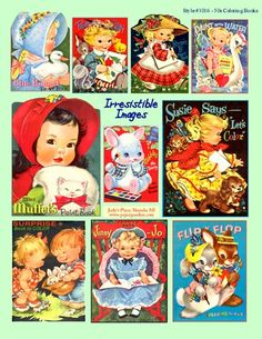 1950's coloring book covers