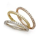 B. Brilliant Tri-Tone Rings Set, Set of 3 Cubic Zirconia Stackable Rings (2-1/5 ct. t.w.)