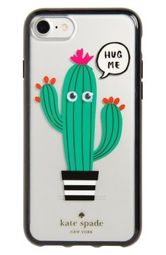 Free shipping and returns on kate spade new york hug me iPhone 7 case at Nordstrom.com. Playful graphics add abundant personality to a transparent hardshell case that shows off your iPhone while preventing scuffs and scratches.