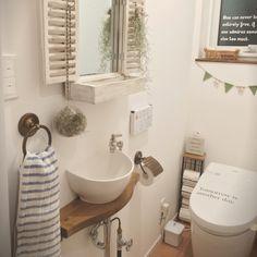 グリーンのあるトイレ/真鍮/ゴーリキアイランド/ウスネオイデス/トイレ…などのインテリア実例 - 2016-03-02 21:52:40   RoomClip(ルームクリップ)