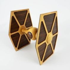 """The TIE Fighter box is complete! by @baenenboxes - Made from Hard Maple, Black Walnut and Curly Maple for a Star Wars themed art exhibit. It's dimensions are 8"""" x 7.5"""" x 9.375"""". May the Force be with you!   #woodworking #woodwork #wood #wooden #woodturning #topwoodworking #starwars #maythefourthbewithyou #maytheforcebewithyou #lagunatools #box #boxmaker #kenosha #kenoshafun #woodworkforall #machineryhouse #woodworkinginlife #bestigwoodworking #wooden #boxmaker #design #woodworker"""