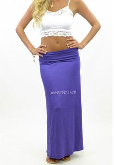 #Amazing Lace             #Skirt                    #Saint #Marie #Maxi #Skirt #Violet                  Saint Marie Maxi Skirt Violet                                                 http://www.seapai.com/product.aspx?PID=191694