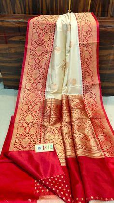 Bridal Sarees South Indian, Bridal Silk Saree, Indian Bridal Outfits, Saree Wedding, Lehenga Style Saree, Red Saree, Saree Dress, Fancy Sarees Party Wear, Latest Silk Sarees