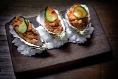 Fried Oysters, Romanesco, Cucumber