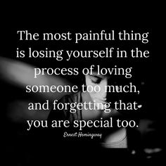 THE #MOST #PAINFUL #THING IS #LOSING