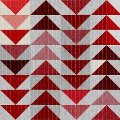 Tribal Quilt (in Crimson) fabric by nouveau_bohemian on Spoonflower - custom fabric