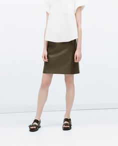 FAUX LEATHER SKIRT - View all - Skirts - WOMAN | ZARA United Kingdom