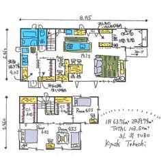 31.31坪 / 土間玄関、洗面洗濯室につながるファミリークローゼット、ワークスペースのある間取り