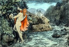 """n Norse mythology, Gjálp and Greip are two giantesses.  For the moon of Saturn named after Greip, see Greip (moon). For the Gjalp fissure eruption see Bardarbunga. According to Skáldskaparmál they were daughters of the giant Geirröðr. As Thor was wading across Vimur the river """"waxed so greatly that it broke high upon his shoulders""""."""