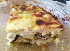 Juhtúrós-sonkás rakott cukkini Lasagna, Quiche, Keto, Breakfast, Ethnic Recipes, Food, Morning Coffee, Essen, Quiches