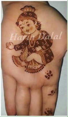 Mehndi designs for Krishna Janmasthami Baby Mehndi Design, Indian Mehndi Designs, Mehndi Designs 2018, Mehndi Designs For Beginners, Modern Mehndi Designs, Mehndi Designs For Fingers, Wedding Mehndi Designs, Mehndi Design Pictures, Beautiful Mehndi Design