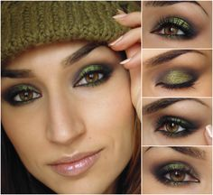My Sweet Escape: Today`s makeup: Green fields with Inglot AMC Pure pigment 84