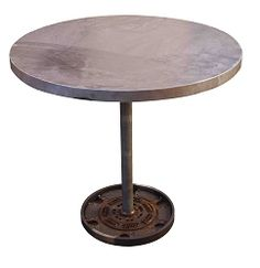 Worthington Industrial Round Metal Bistro Table