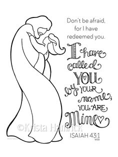 I Have Called You By Name-- Boy coloring page Bible journaling tip-in Name Coloring Pages, Boy Coloring, Coloring Pages For Girls, Coloring Books, Bible Prayers, Bible Scriptures, Bible Quotes, Bibel Journal, Illustrated Faith