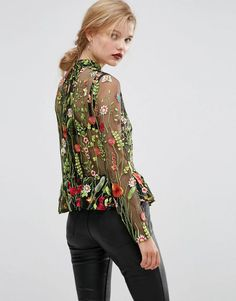 Chic Floral Embroidery Sheer Blouse make you stunning in crowd. Try and make a difference for daily outfit. More surprise at OASAP.com