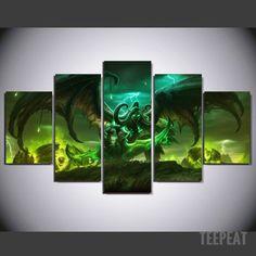 Illidan - 5 Piece Canvas