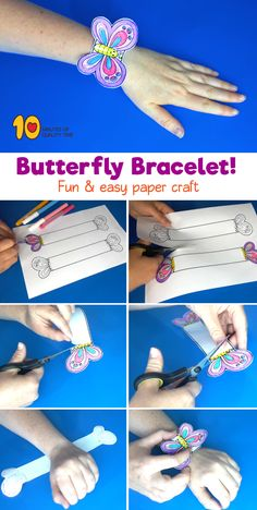 Printable Butterfly Bracelet! #butterfly#summercrafts#butterflies