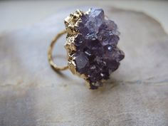 Amethyst Engagement Rings | Purple-druzy-wedding-cocktail-ring.full