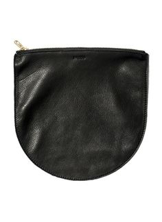 Baggu's Large Leather Pouch in Black now at Revival. $40.