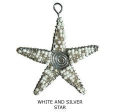 Thanda Zulu Beaded Star Ornament