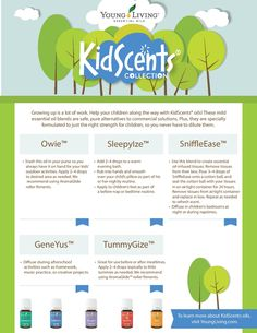 Young Living Essential Oils: KidScents Collection | For more info and to order Young Living - www.TheSavvyOiler.com