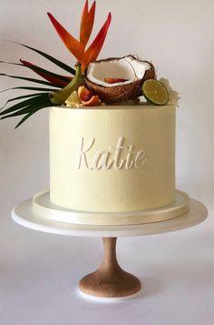 19th Birthday Cakes, Hawaiian Birthday Cakes, Havana Nights Party, Mom Cake, Tropical Party, Buttercream Cake, Creative Cakes, Celebration Cakes, Themed Cakes