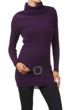 65 percent Acrylic 35 percent Polyester 1S/2M/2L/1XL Per Pack Purple, Red, Coral, Green, Beige, Black This HIGH QUALITY sweater is VERY CUTE!! Made from a very soft and comfy fabric, this adorable fitted knit top with a turtleneck and a jeweled detail at waist tie is hand washable, and fits true to size.