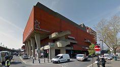 Brixton Recreation Centre - 1971-85 by George Finch - #architecture #googlestreetview #googlemaps #googlestreet #uk #london #brutalism #modernism
