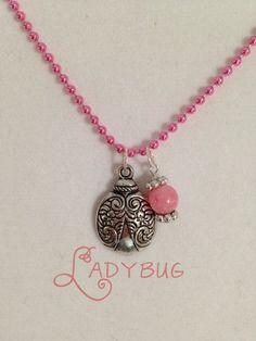 Ladybug charm necklace by CharmingLadybug on Etsy