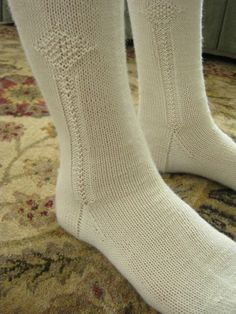 A great post on the knitting of clocked stockings (these aim a little bit earlier than the era for this pinboard, but it is the same basic concept.)