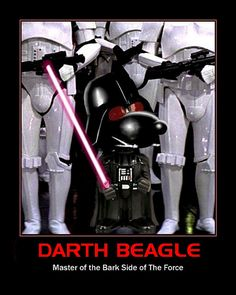 "STAR WARS : Snoopy as ""Darth Beagle"" by DarkJediKnight, via Flickr"