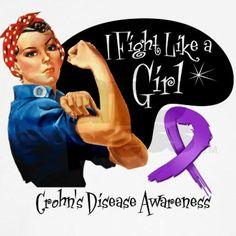 Crohn's Disease FightLikeAGir Women's Tank Top