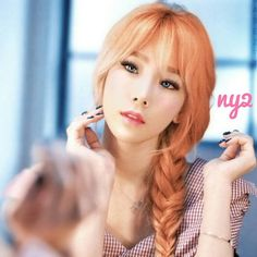 taeyeon  hazelnut hair? or mybe orange hair?   #girlsgeneration #gg #snsd #soshi #makeup #photoshoot #fanarts #kpop #taeyeon #sunny #tiffany #hyoyeon #yuri #yoona #seohyun