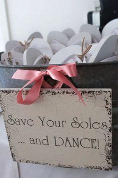 wedding favors - cute wedding party dance shoes wedding ideas