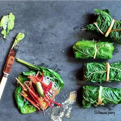 """Chard Wraps:  Download our FREE ThinTea Recipe App for this #CleanEating Recipe & more!! Simply search in the App Store: """"ThinTea"""""""