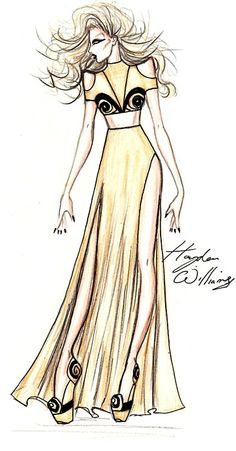 Amazing Lady Gaga fashion illustration by Hayden Williams.