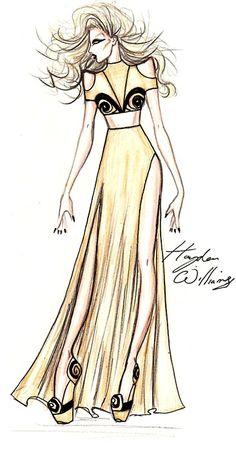 Amazing Lady Gaga fashion illustration by Hayden Williams.