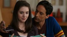 While his friends try and teach Abed to hit on girls, Abed pretends to be Don Draper from Mad Men and hits on Annie. The Meta concept here is the actor that plays Annie (Alison Brie), actually acts in Mad Men. (Fowler, M. Community Tv Show, Annie Community, Hospital Games, Danny Pudi, Cast Images, Don Draper, Aubrey Plaza, Hayley Williams