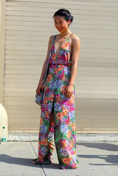 Floral Jumpsuit NYC | Street Fashion | Street Peeper | Global Street Fashion and Street Style