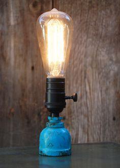 handmade rustic industrial table lamp by studiosixtyeight on Etsy, $45.00