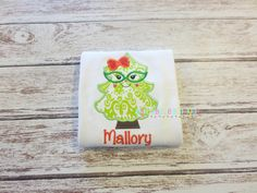 Girls Christmas Tree with Glasses Appliqued by MaddyBelleBoutique
