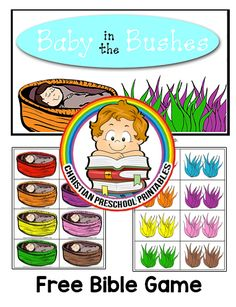 Baby Moses Crafts, Moses Bible Crafts, Bible Story Crafts, Bible Crafts For Kids, Preschool Bible, Preschool Games, Bible Stories, Kids Bible, Toddler Sunday School
