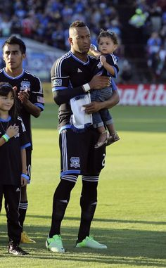 San Jose Earthquakes Victor Bernardez and daughter