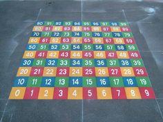 Trasforma tu patio en un sitio donde aprender. Playground Painting, Playground Games, Playground Flooring, Outdoor Classroom, Math Classroom, Asphalt Games, Preschool Garden, School Painting, Backyard Seating